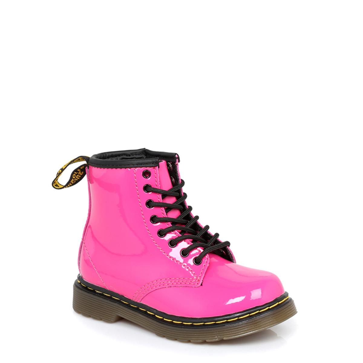 Dr Martens Infant Kids Boots Brooklee Hot Pink Patent ...