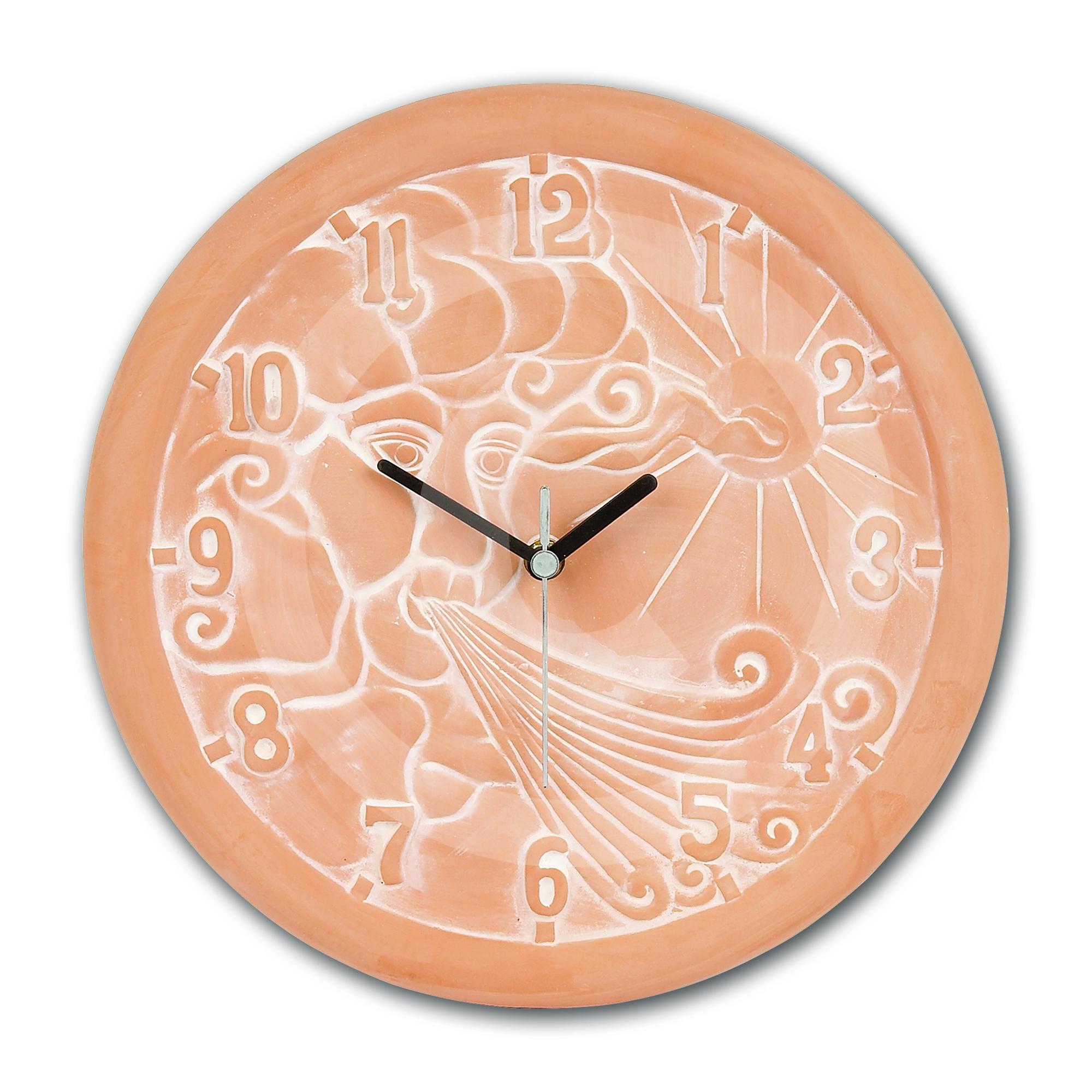 Gardman mixed terracotta wall clock 33 x 33cm indoor