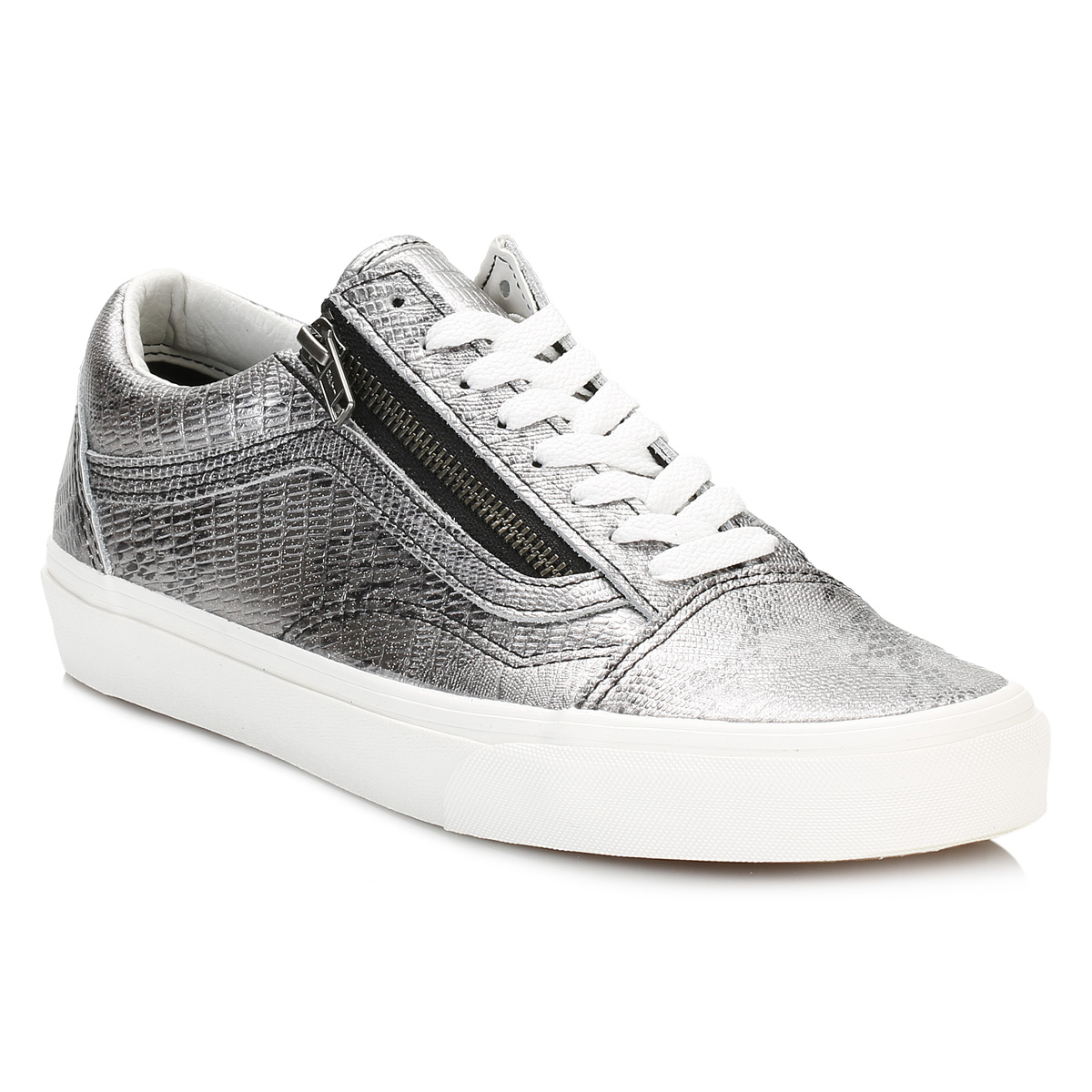 vans womens skool trainers lace up casual leather