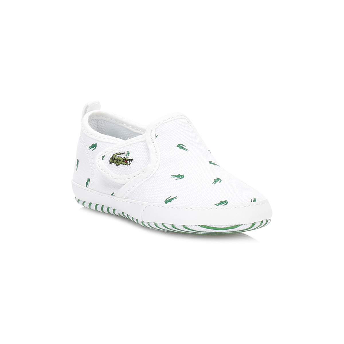 Lacoste Kids Boys Girls Trainers White Canvas Gazon Crib