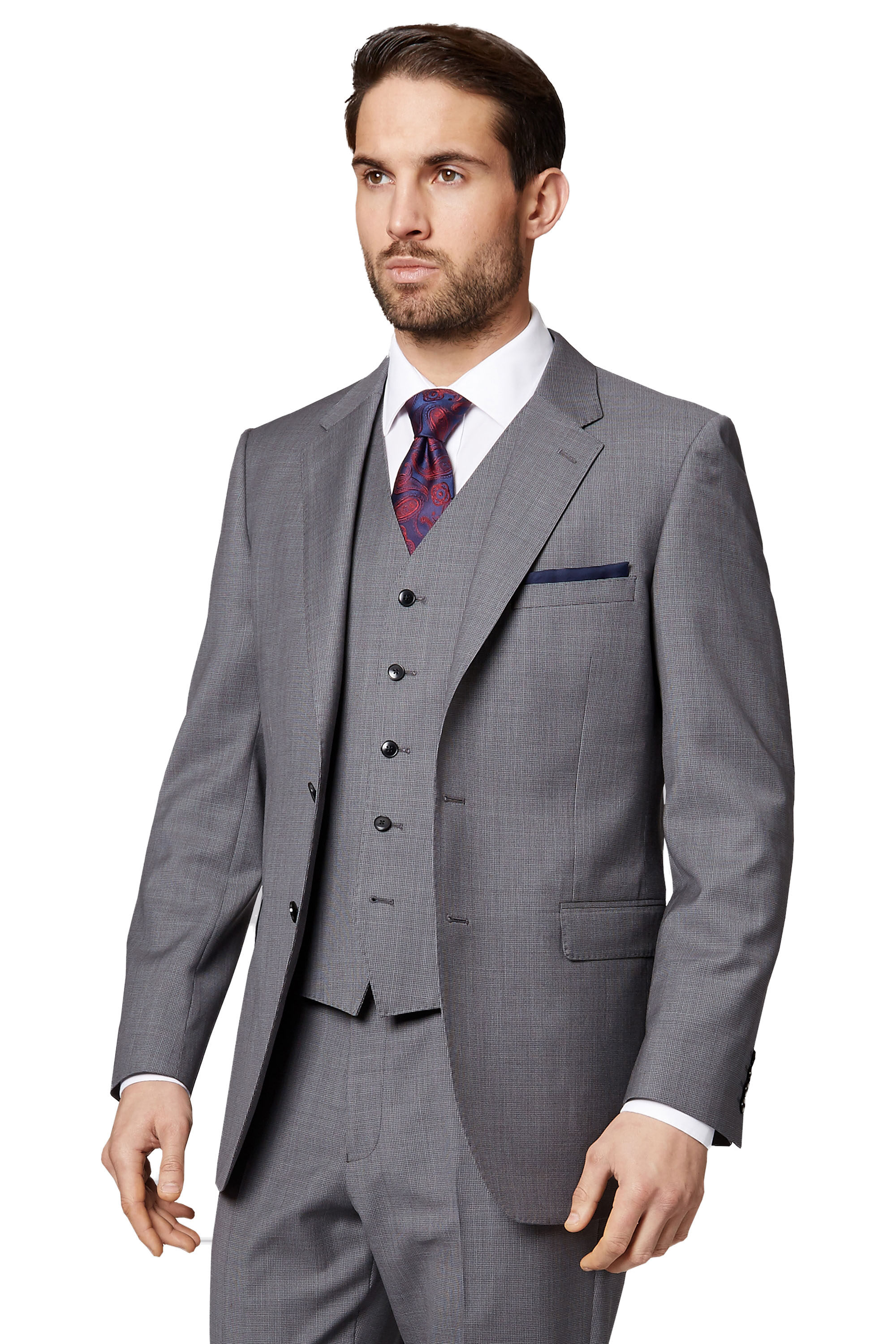 Ermenegildo Zegna Cloth Mens Light Grey Suit Jacket Regular Fit ...