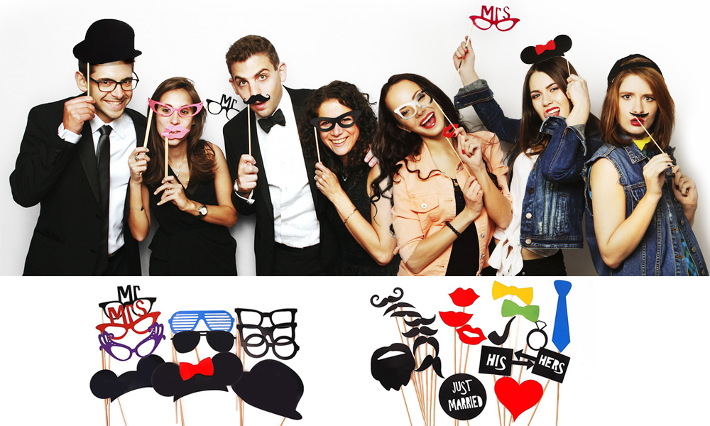 Selfie Photo Booth Props Fun Party Sticks