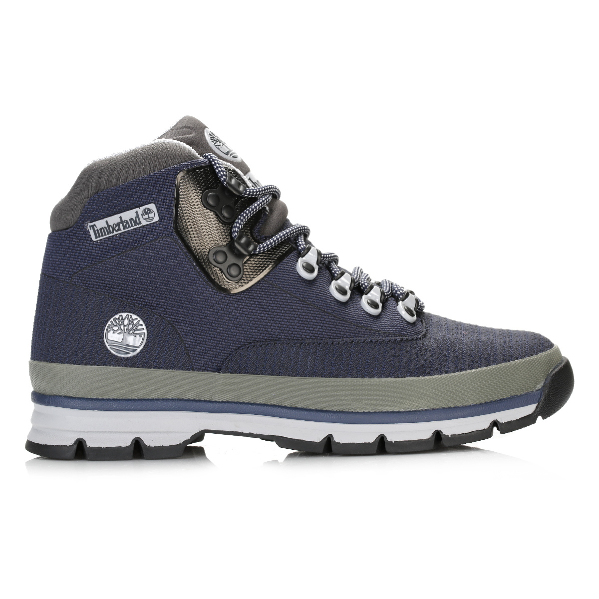 Timberland Mens Blue Grey Hiker Jacquard Ankle Boots Lace