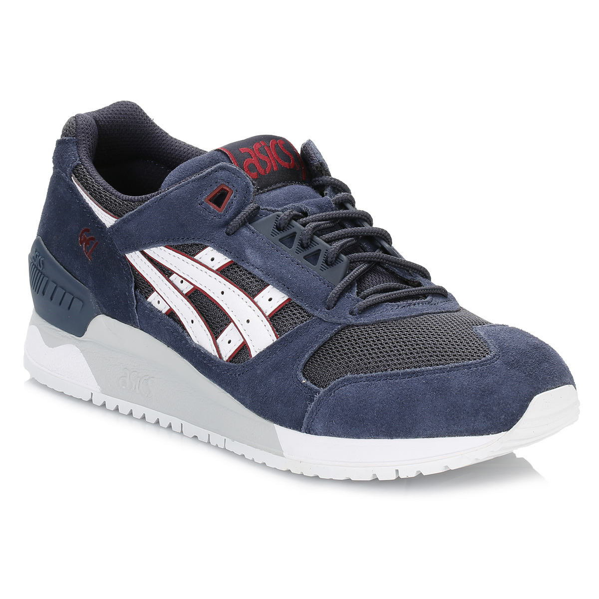 asics mens trainers gel respector lace up synthetic casual