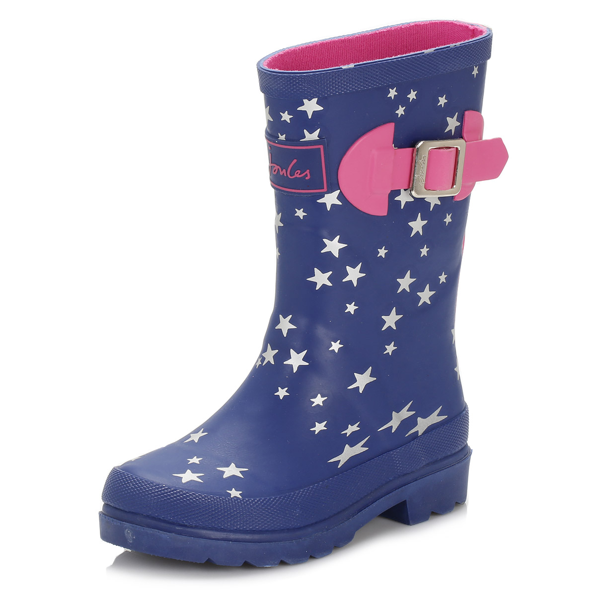 Joules Toddler Navy Blue Wellington Boots Kids Pull On ...