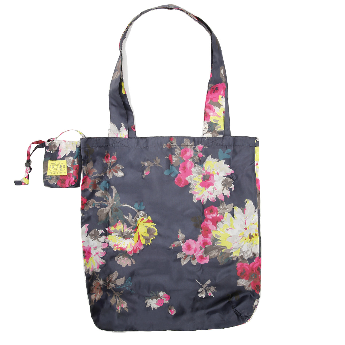Joules Womens French Navy Blue Floral Pack-Away HandBag Purse Casual Ladies | EBay