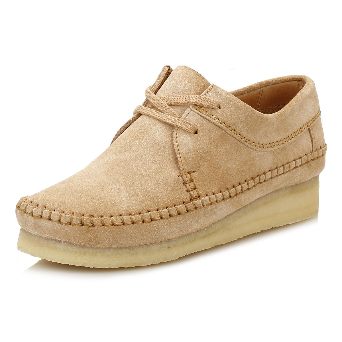 clarks womens wallabees blue or brown suede weaver