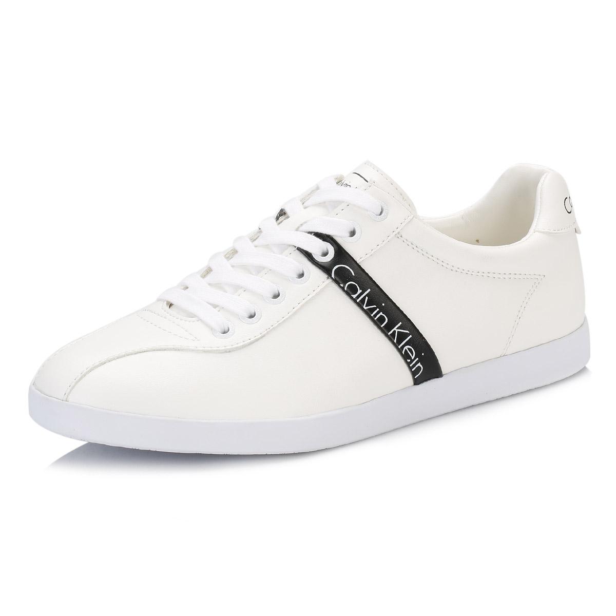 calvin klein ck mens trainers white black avi casual shoes