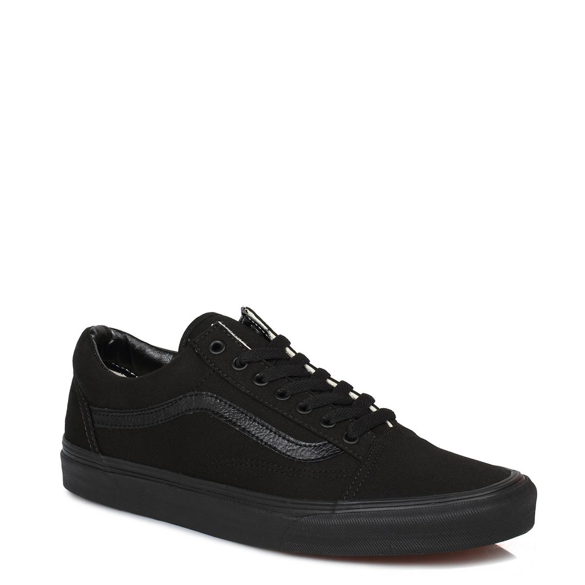 vans mens womens trainers canvas lace up school black