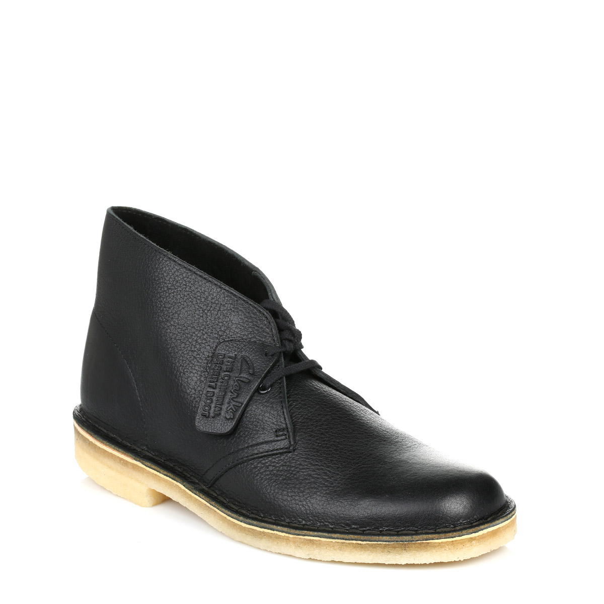clarks mens black leather desert boots smart casual lace up shoes ebay. Black Bedroom Furniture Sets. Home Design Ideas