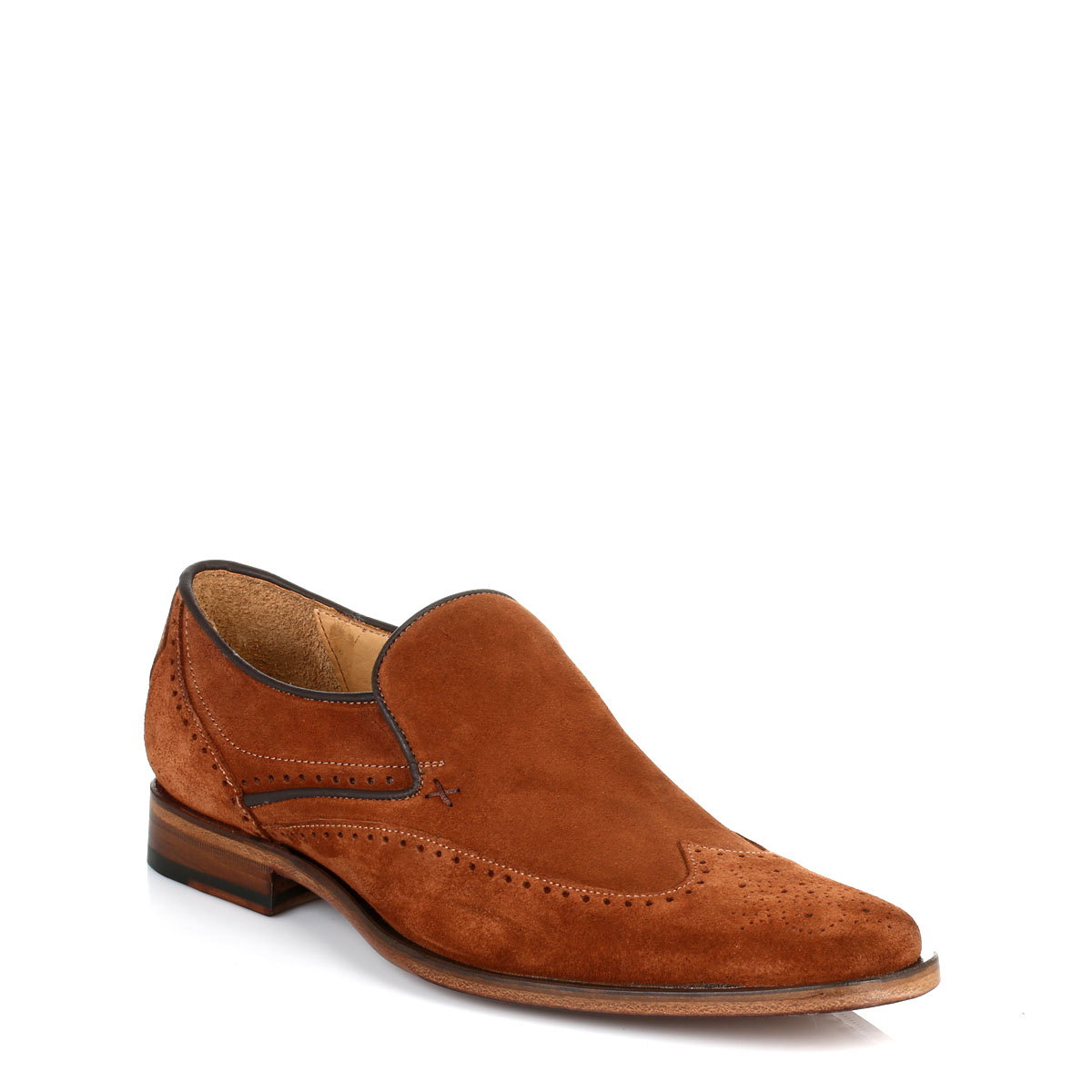 Brown Suede Shoes Mens Loafers