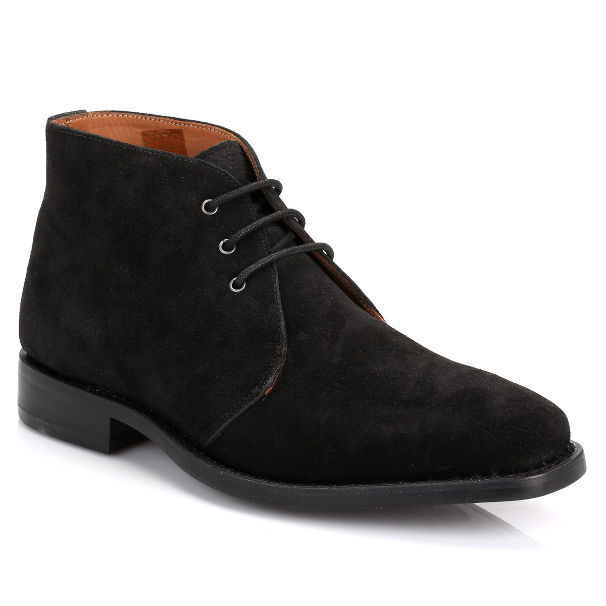 Details about J.G Harrisons Mens Ankle Boots Black Suede Chukka Lace ...