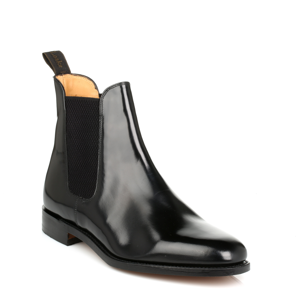 loake mens 290b black chelsea boots leather goodyear