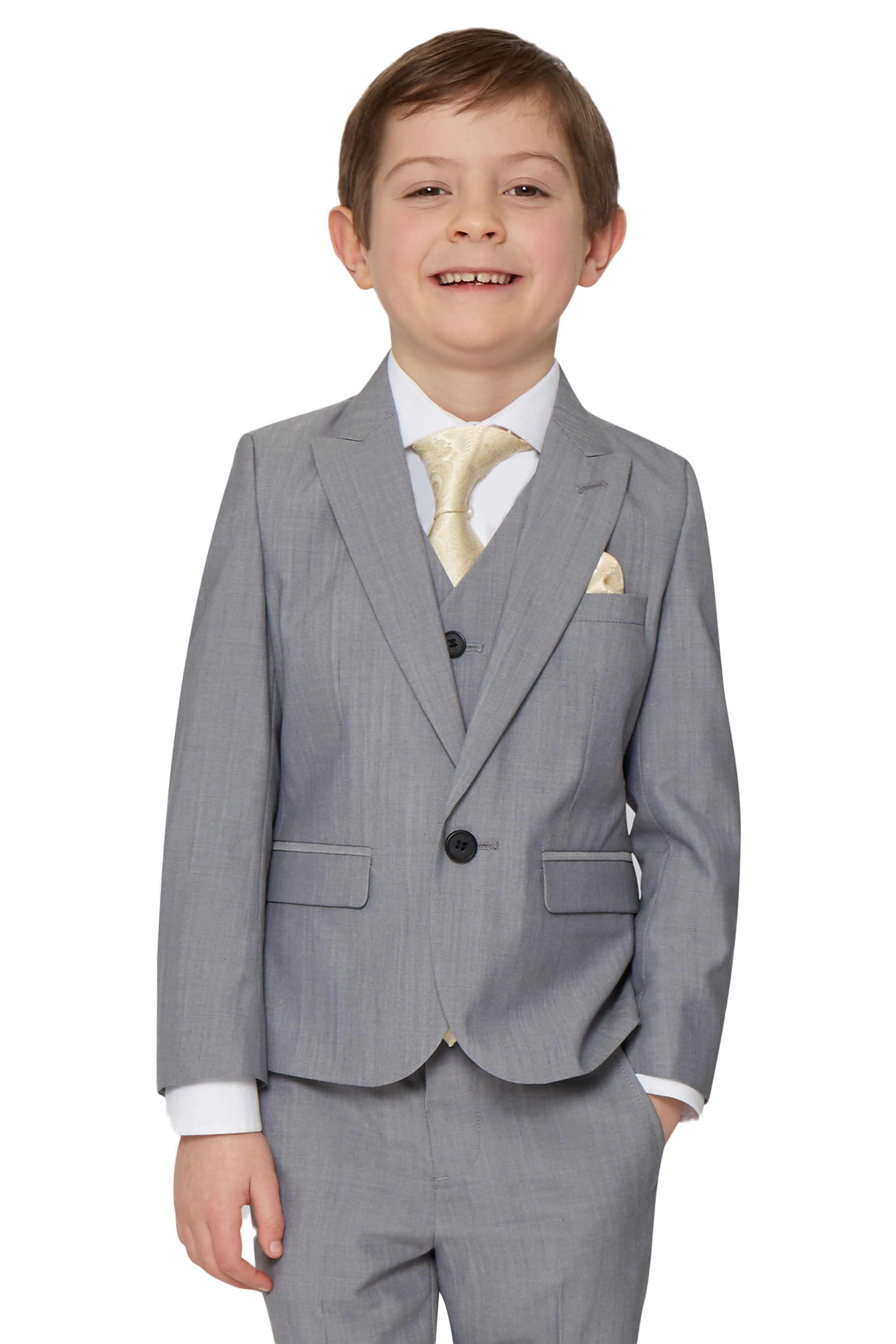 French Connection Boys Formal Silver Grey Suit Jacket One Button Kids Blazer | EBay