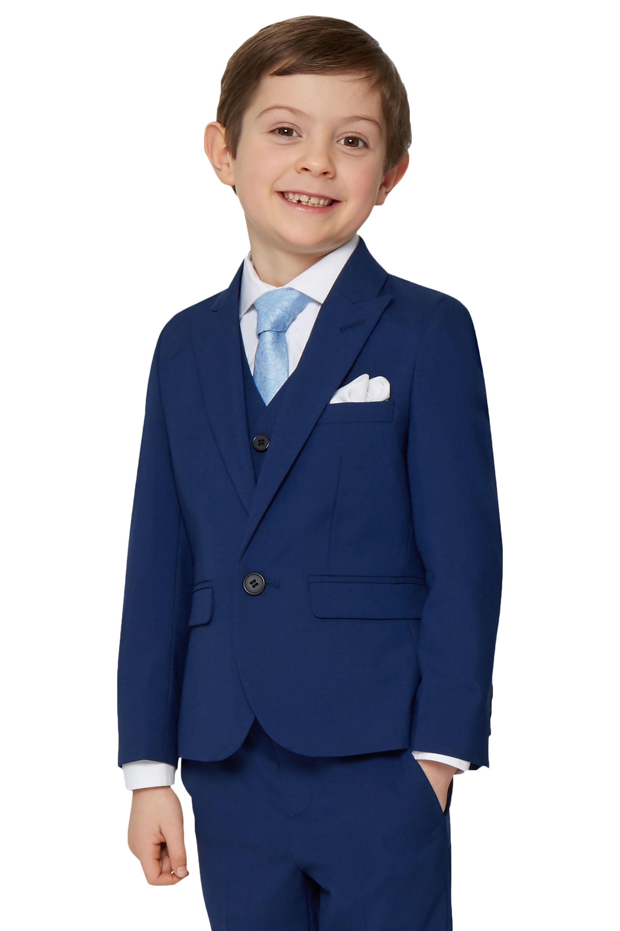 French Connection Boys Formal Navy Blue Suit Jacket One Button ...