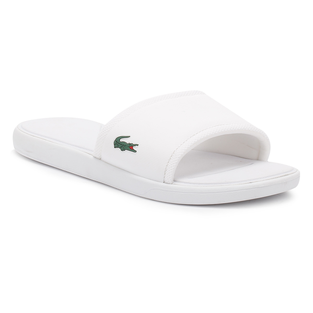 clearance shop for cost Lacoste L.30 Slider With Logo In White huge surprise online 1hd9n