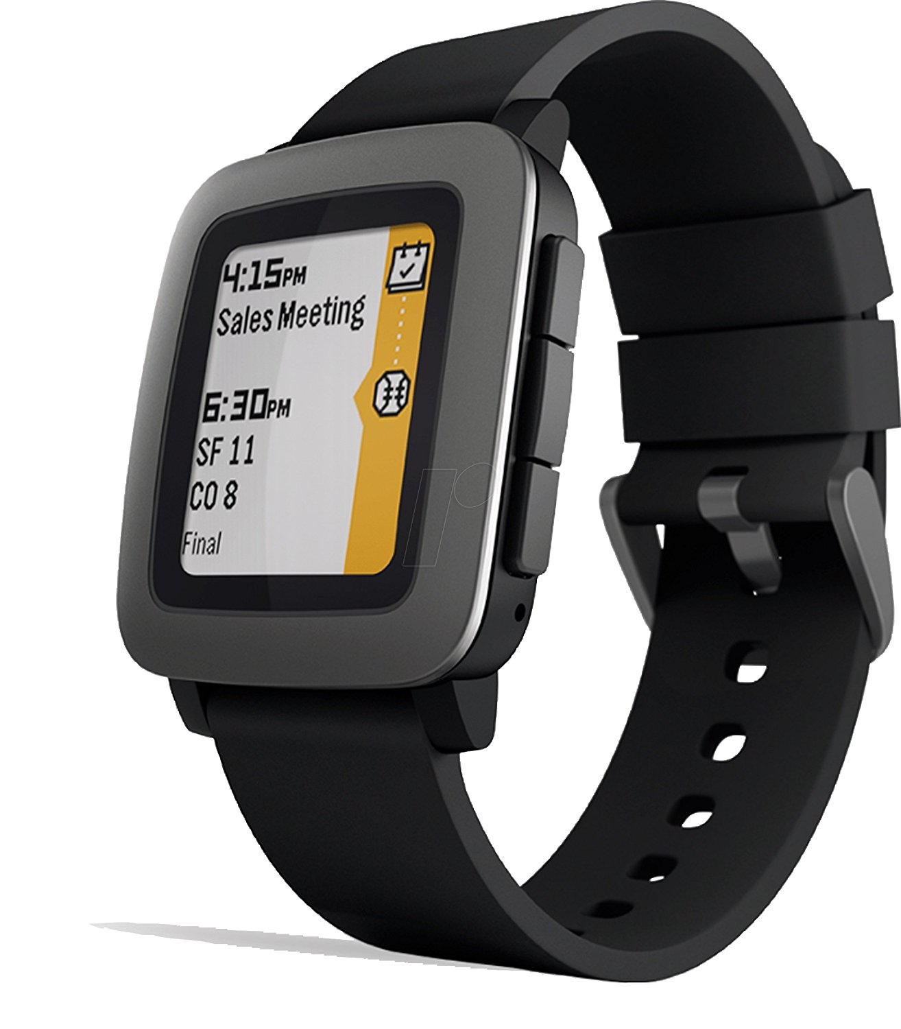 Pebble time black smart watch for iphone android with activity tracker for Pebble watches