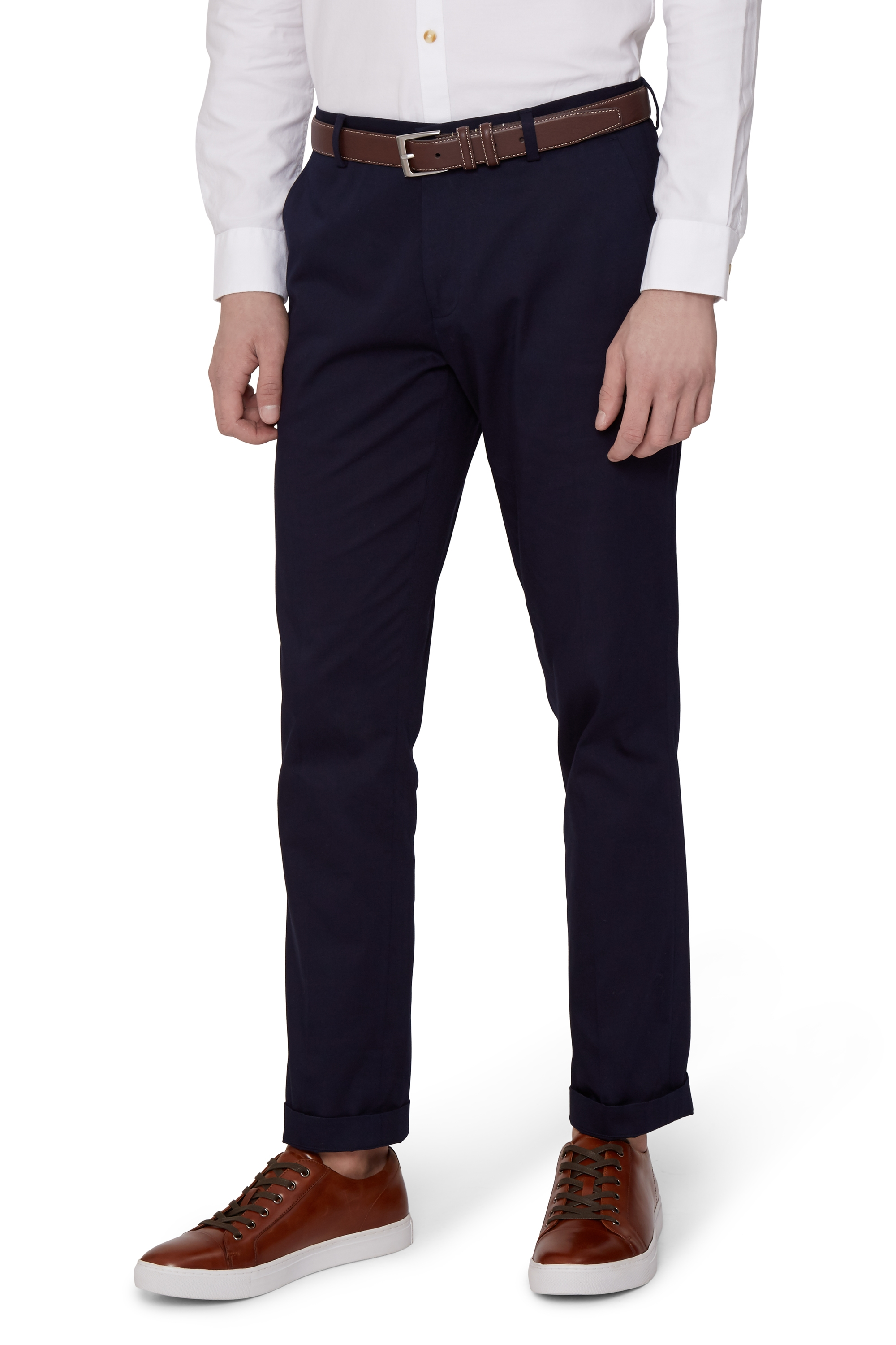 Mens Moss Bros Casual Trousers Chinos Jeans Slim Fit Cotton Pants ...