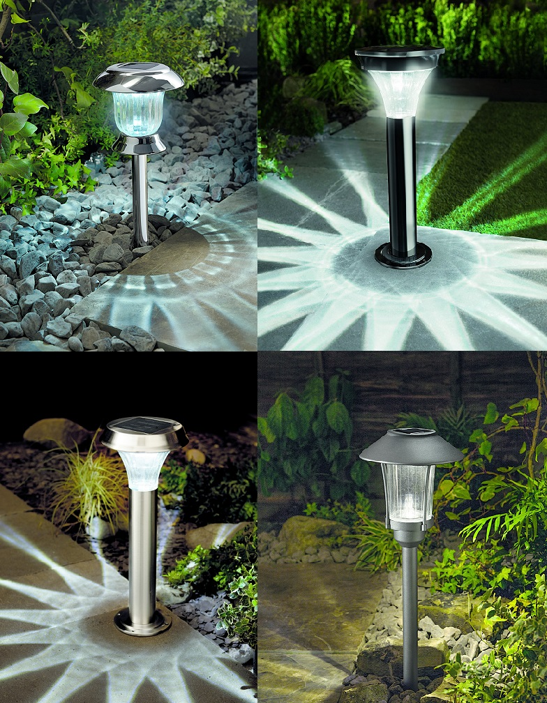 about cole bright solar post lights led pathway garden lamps. Black Bedroom Furniture Sets. Home Design Ideas