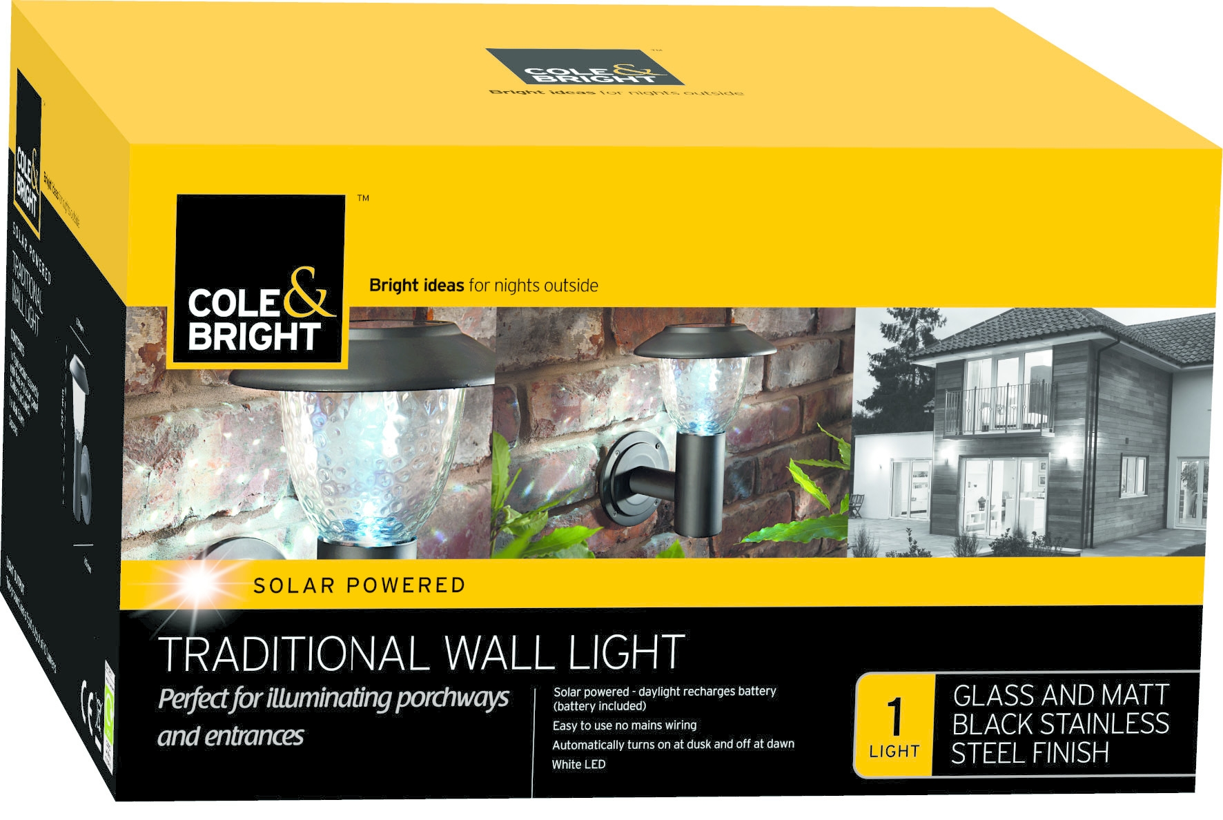Cole & Bright LED Wall Lights, Stainles Steel, Outdoor Lamps eBay