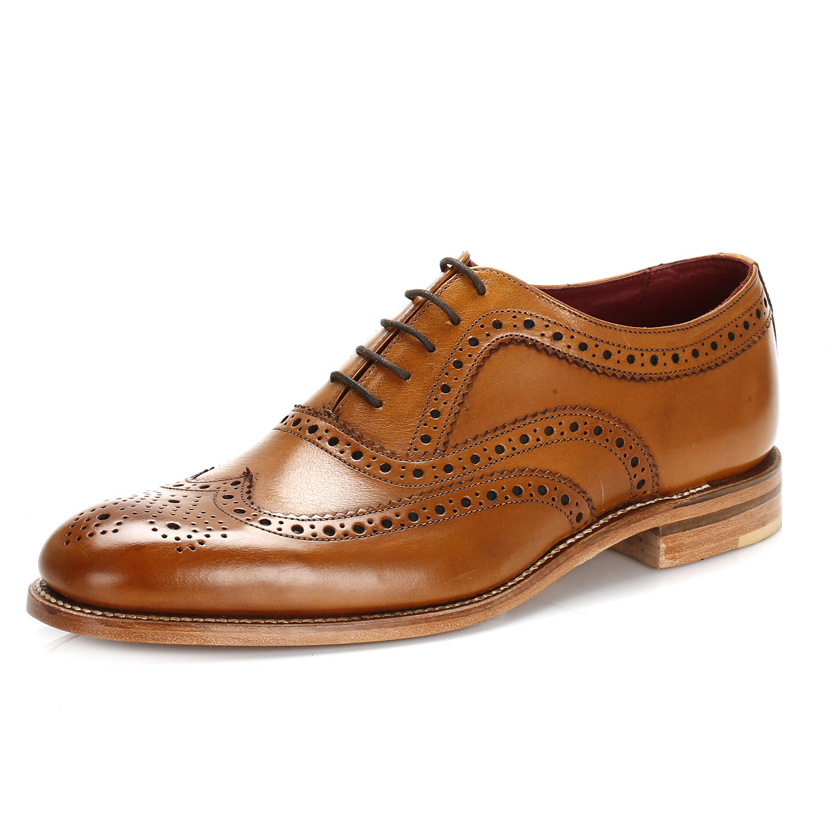 Loake Mens Fearnley Tan Leather Brogue Shoe
