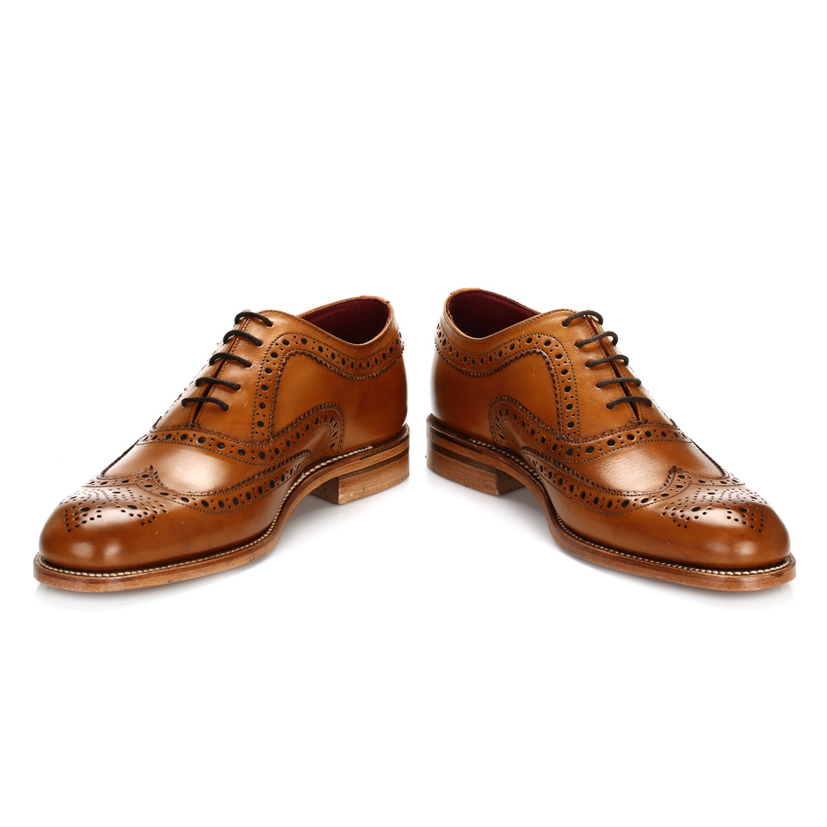 Marks And Spencer Leather Brogue Shoes Tan