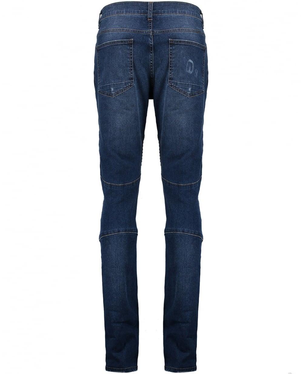 mens denim jeans slim amp straight leg washed ripped