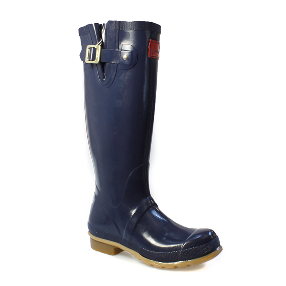 joules womens wellies glossy navy blue rubber boots