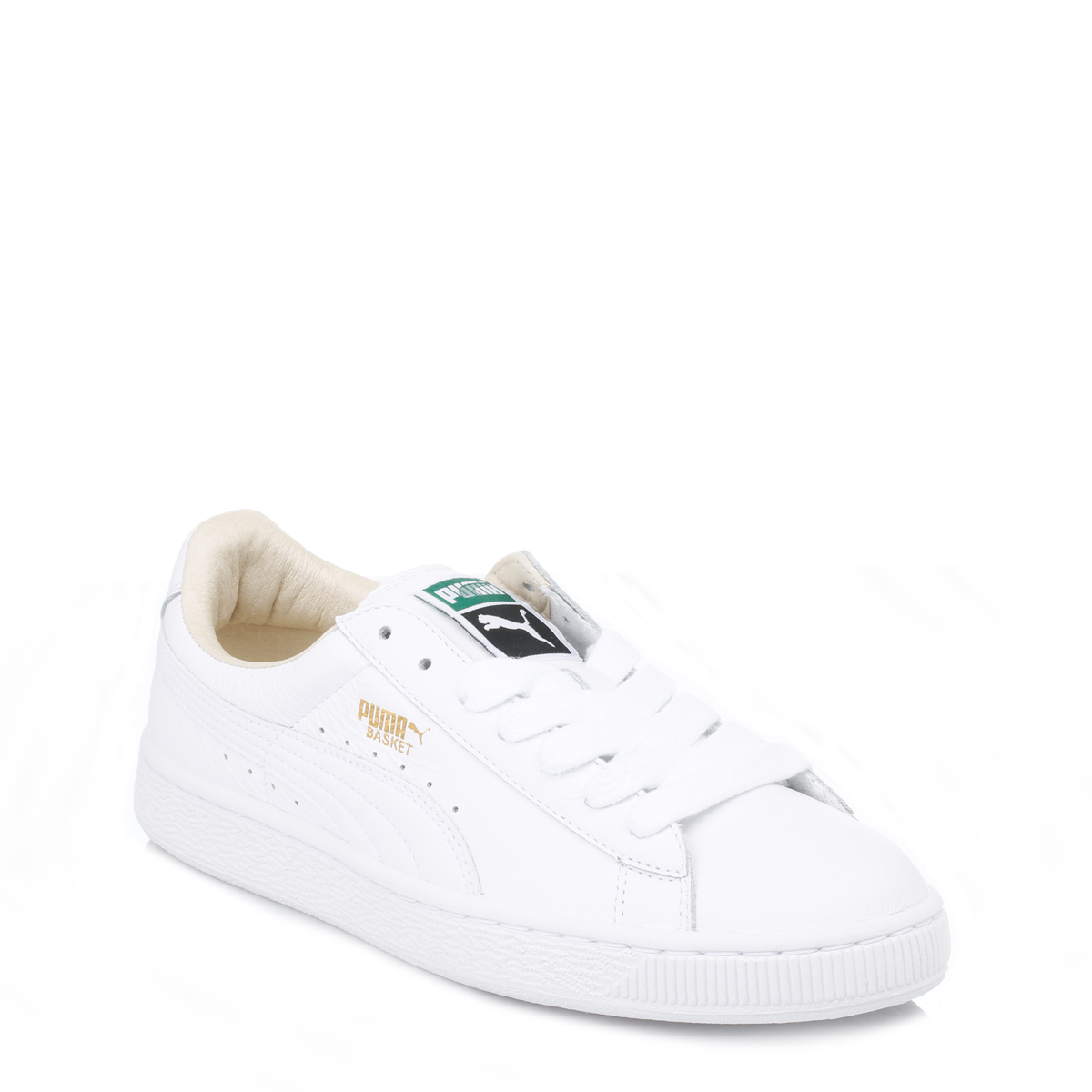 puma mens trainers lace up sport casual shoes white basket classic leather ebay. Black Bedroom Furniture Sets. Home Design Ideas