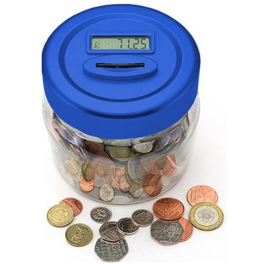 Uk pound lcd display digital coin counting jar piggy bank memory function - Coin bank that counts money ...