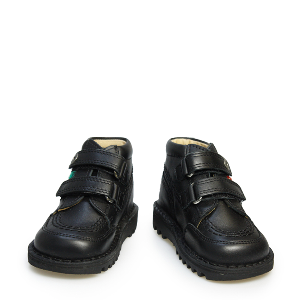 Black kicker sandals - Kickers Kids Toddler Ankle Boots Strap Black Leather Velcro Shoes Back To School