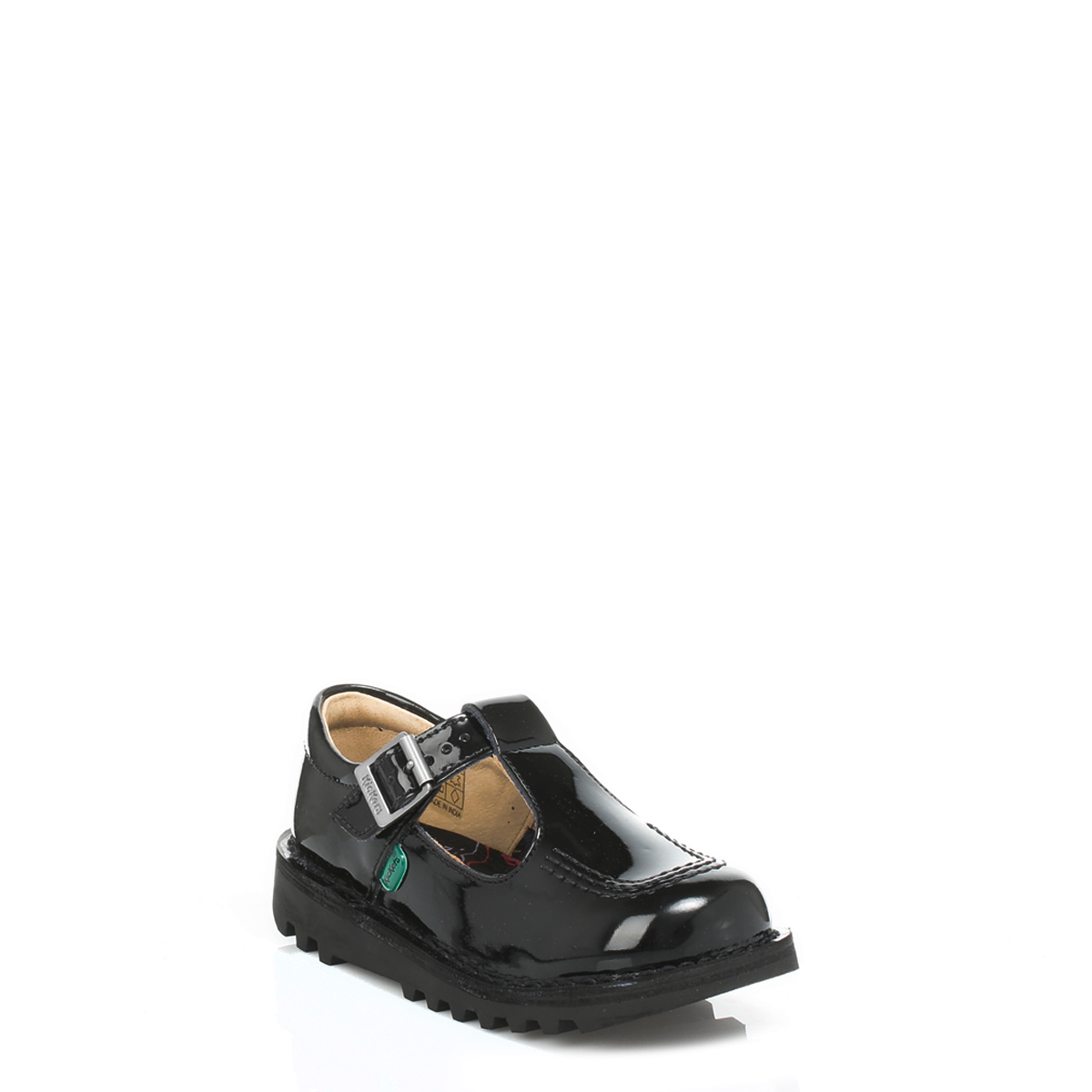 Kickers Kids Infant Black Patent Leather Shoes Buckle