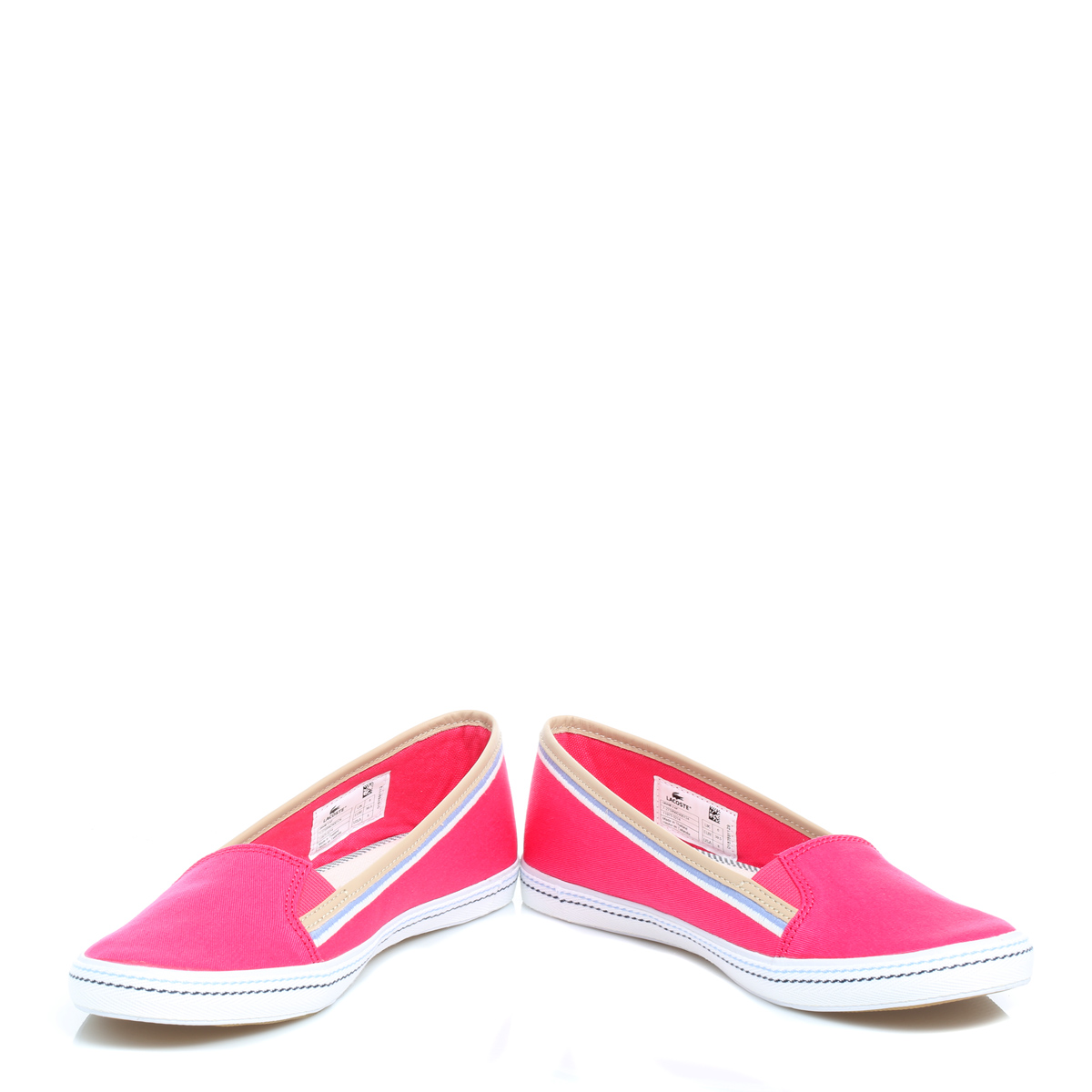 lacoste womens pink orane canvas shoes sport casual slip
