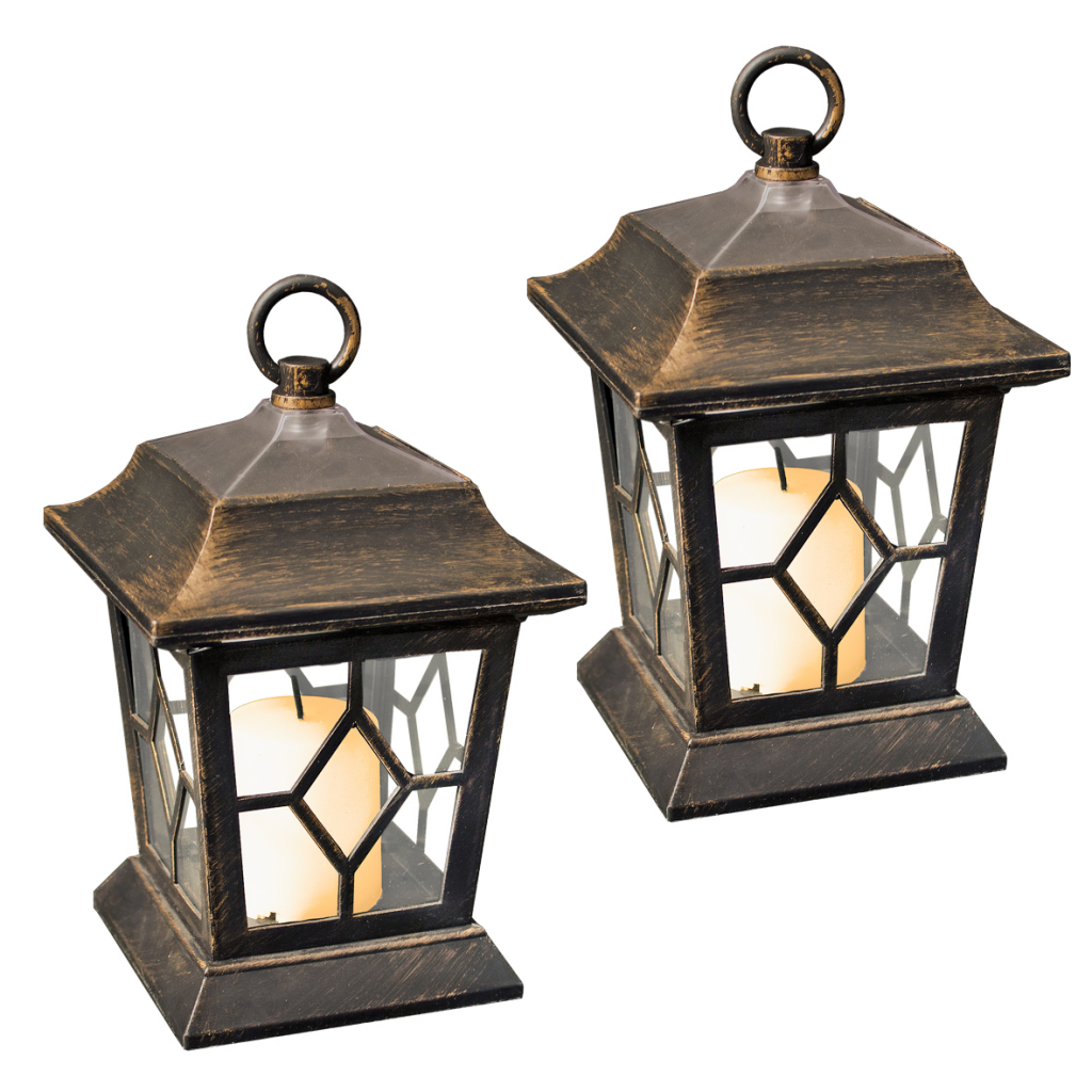Solar Garden Light Lantern: GardenKraft Set Of 2 Solar Lantern Hanging Garden Light