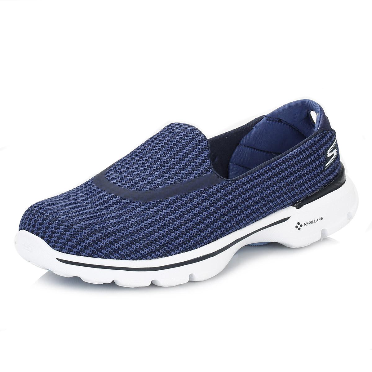 Ladies Navy Blue Walking Shoes