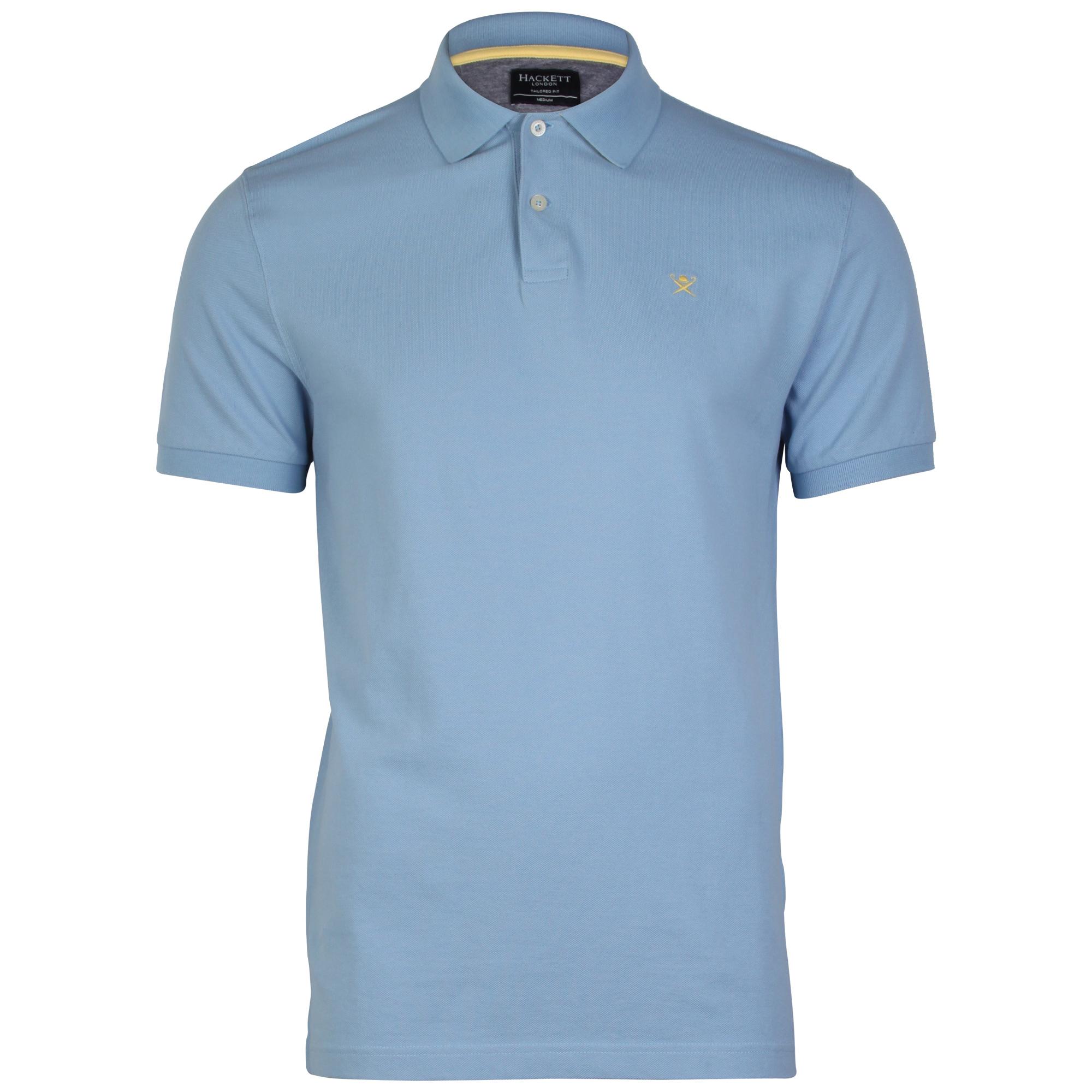 Hackett tailored logo mens polo shirt ebay for Polo shirt with fish logo