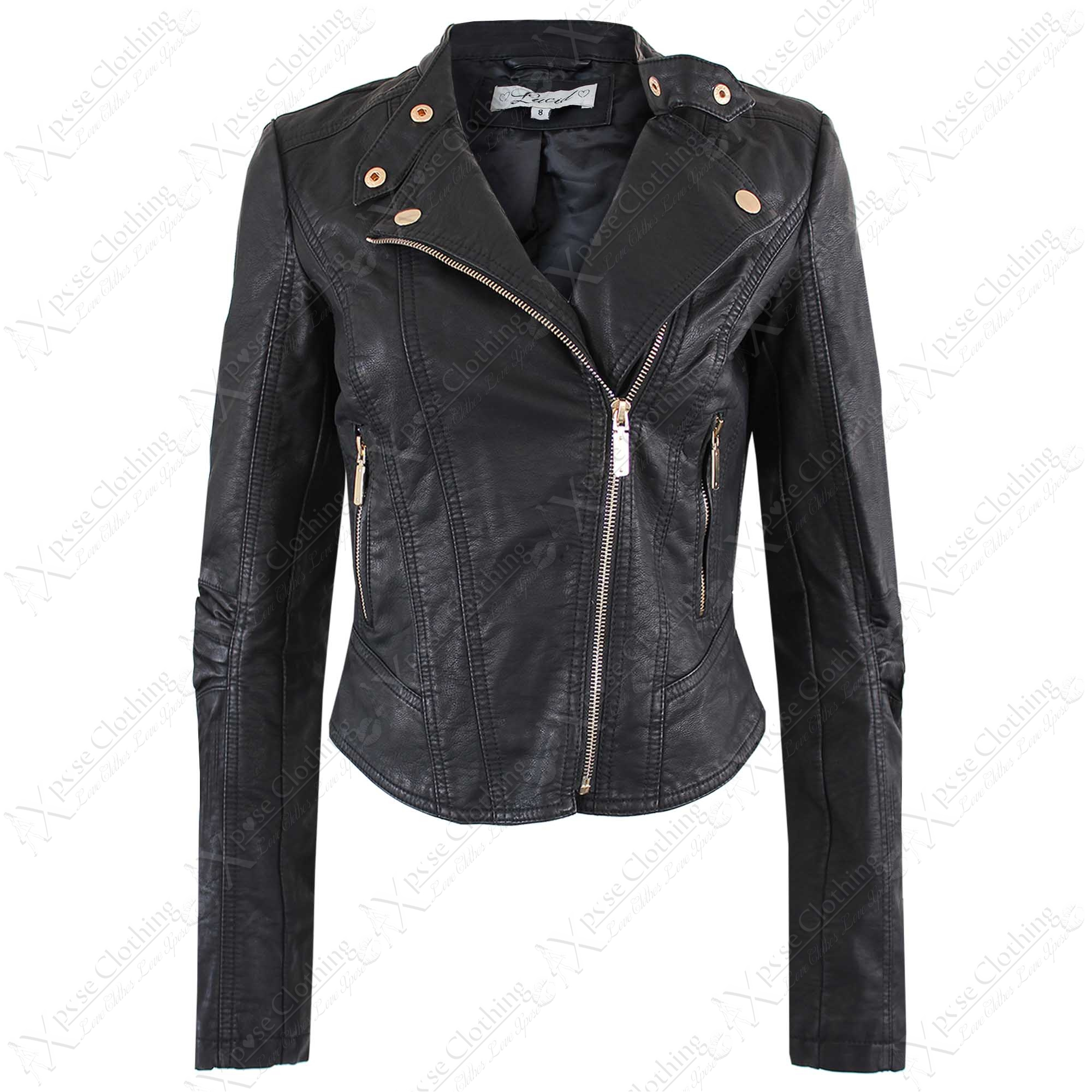 Our collection of faux leather jackets includes classic leather-look jackets in biker fits to add a touch of attitude to your outfit. Our latest leather jackets for women come in staple black as well as grey and mustard, making them effortless layers for day or night.
