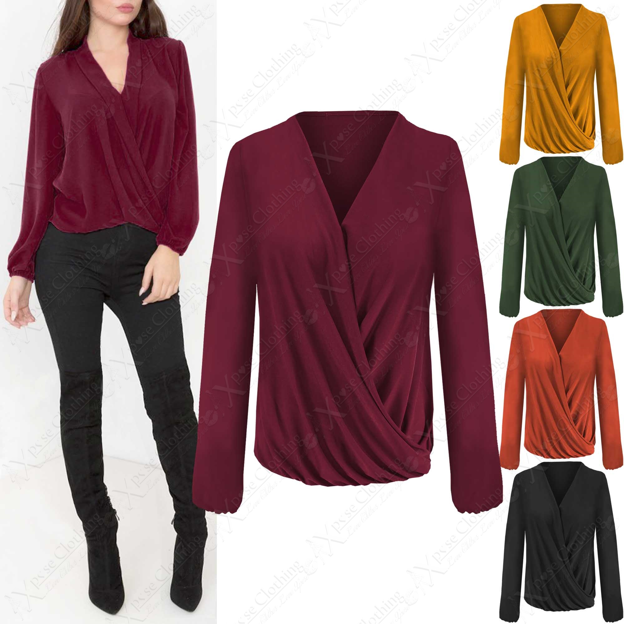 Ladies Wrap Blouses