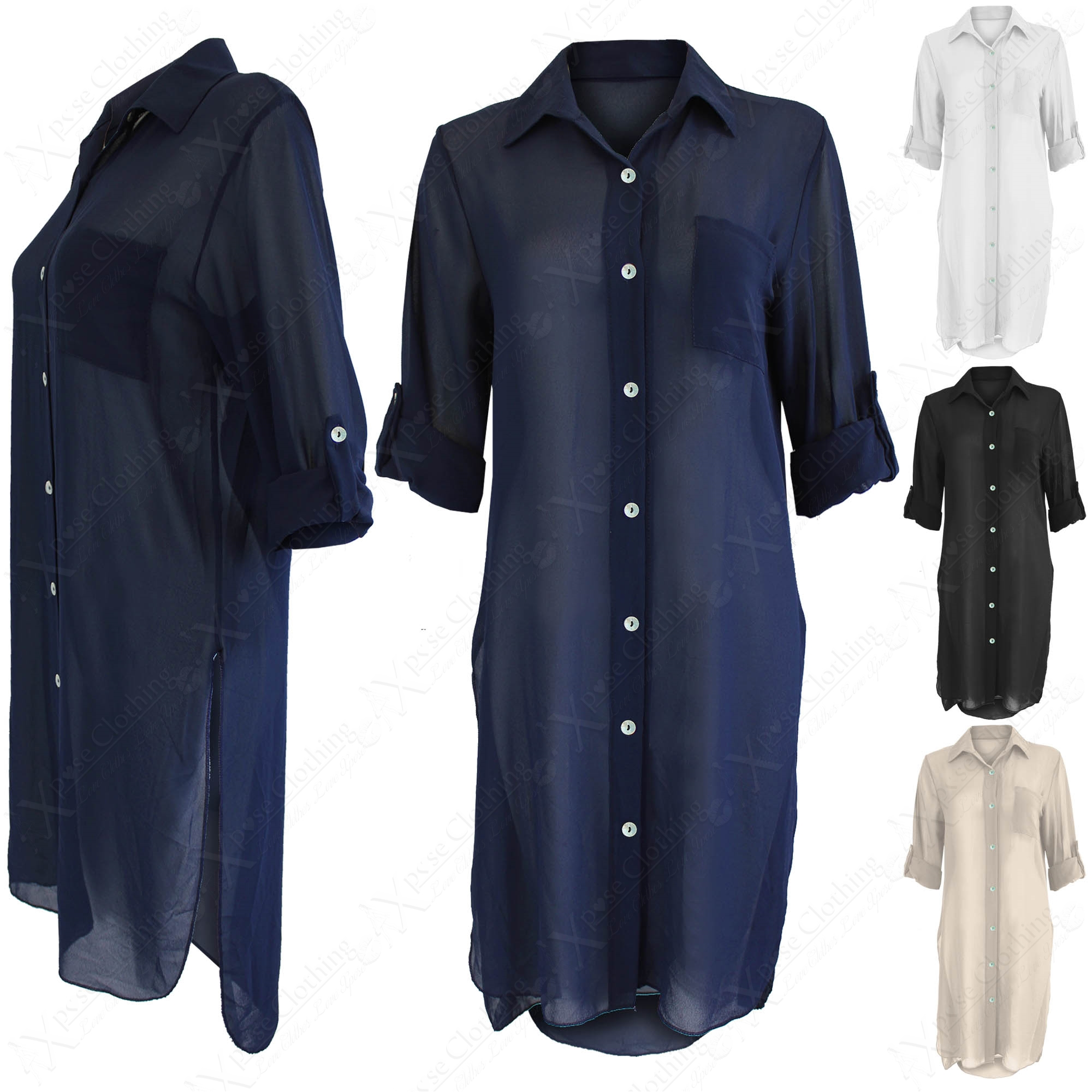 Long Sleeve Shirts: Free Shipping on orders over $45 at celebtubesnews.ml - Your Online Tops Store! Overstock uses cookies to ensure you get the best experience on our site. Casual Sexy Deep V Neck Button Slim Waist Long Sleeves Chiffon Blouse Shirt. 2 Reviews. SALE. Quick View. Sale $ 79 - .