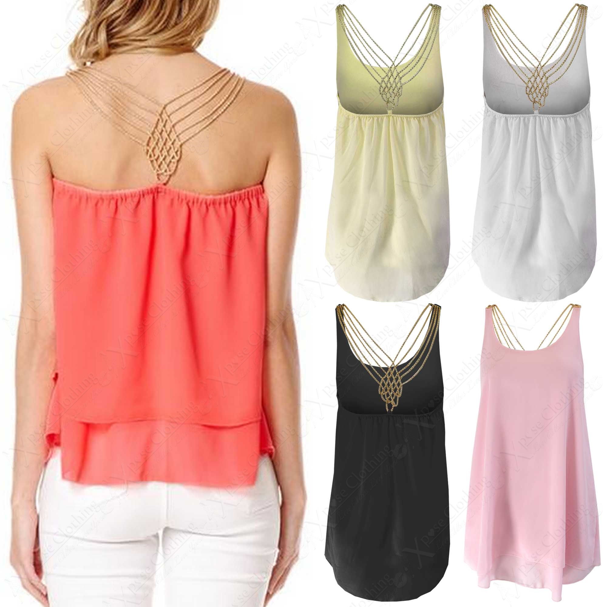 Ziza Chain Detail Sleeveless Blouse 18
