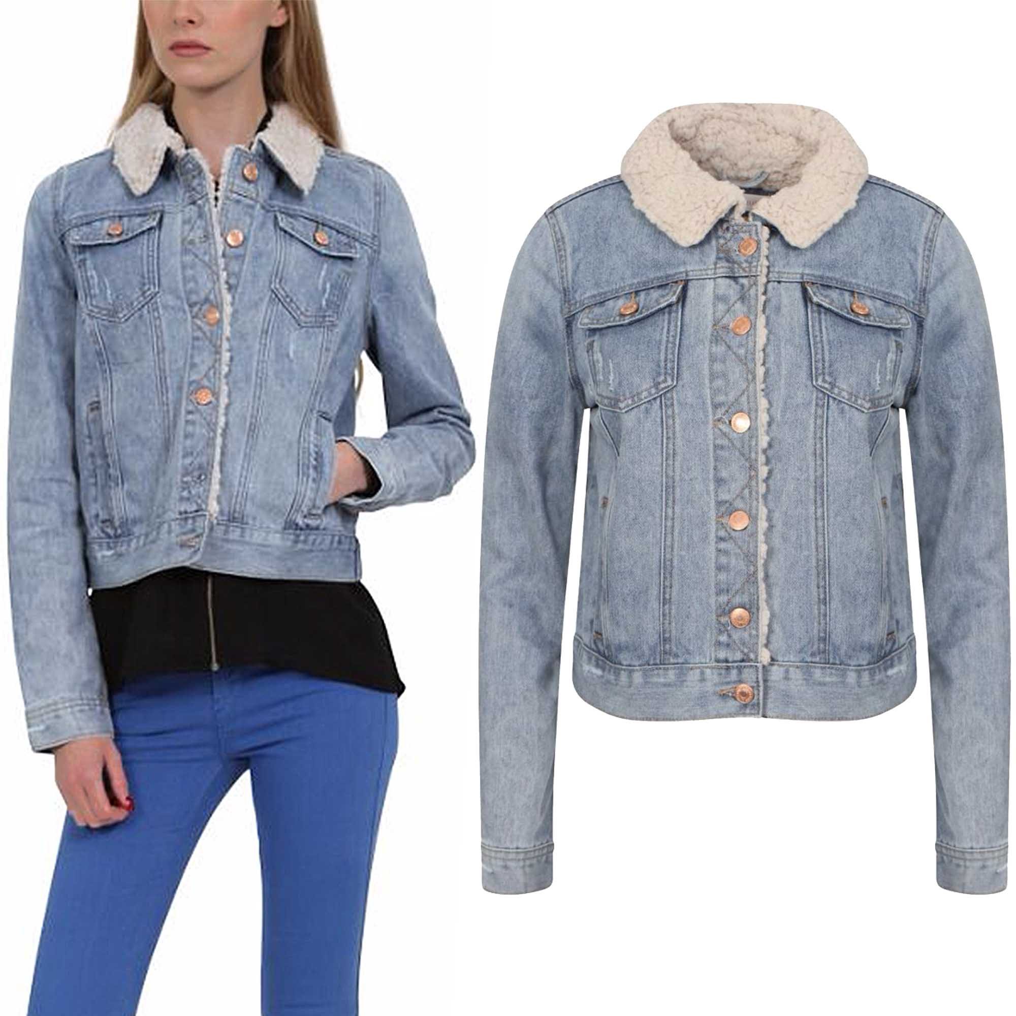 Denim Jacket With Fur Womens | Outdoor Jacket