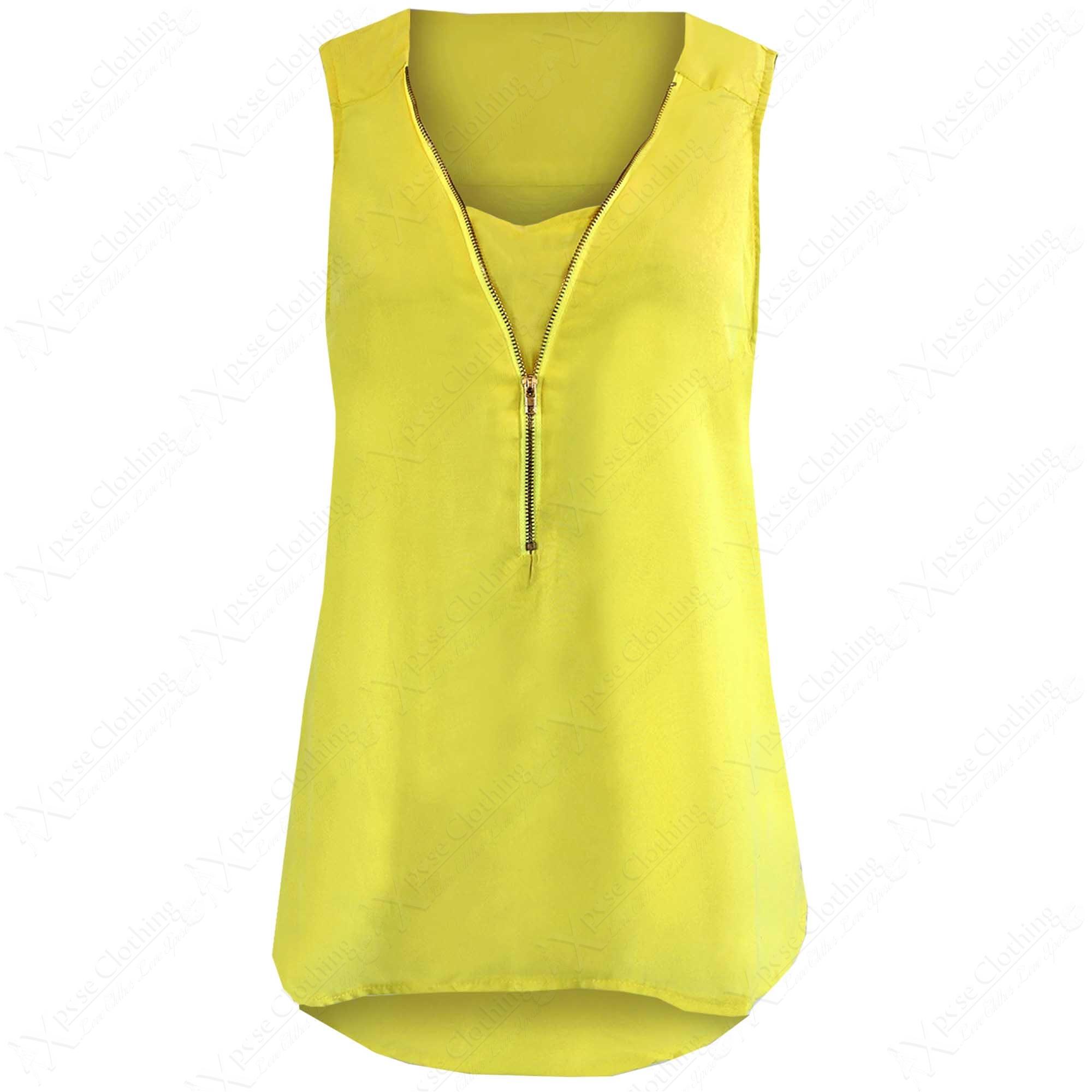 Ladies Zip Front Blouse 116