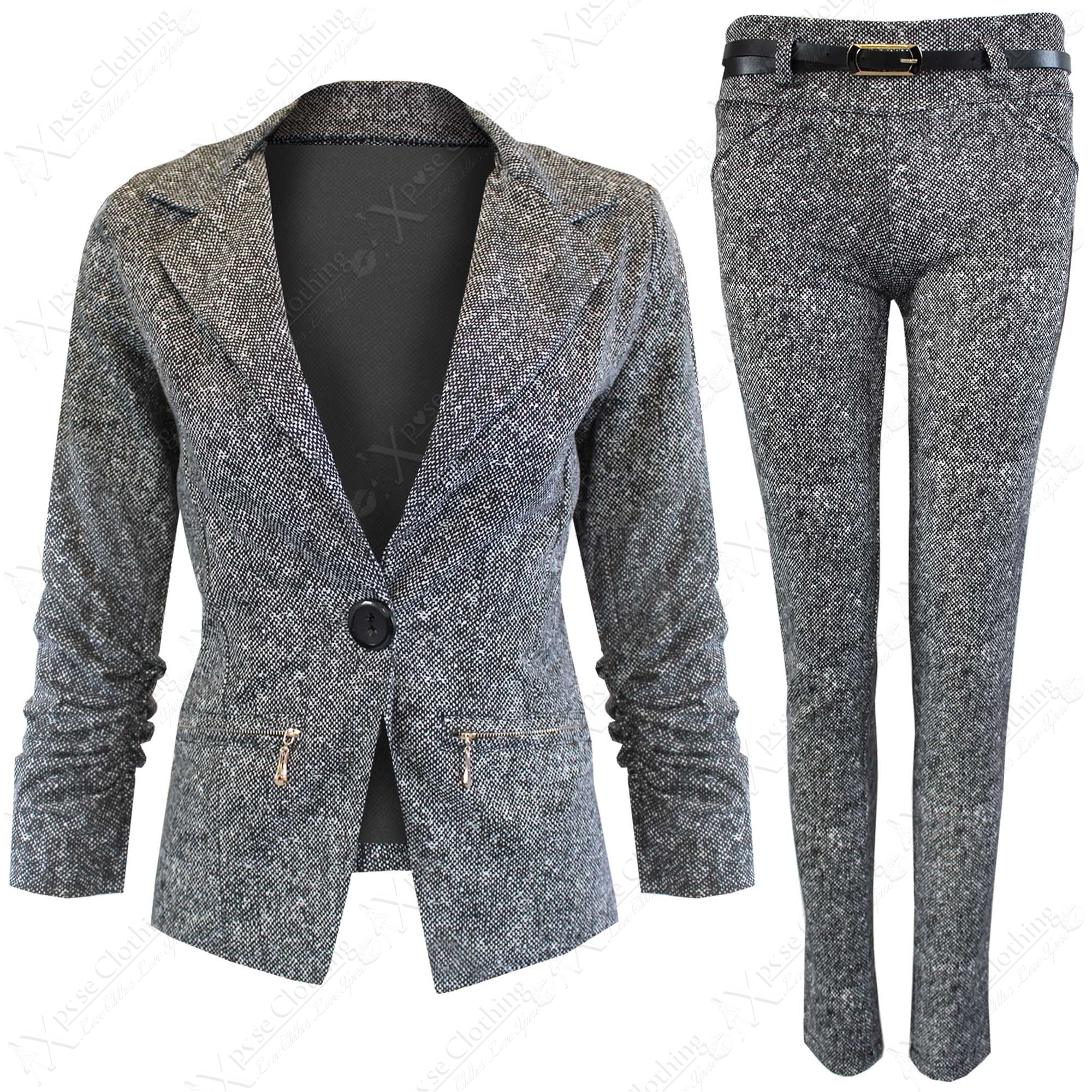 Awesome Com  Buy Pants  Skirt Suits For Women Professional Female Grey