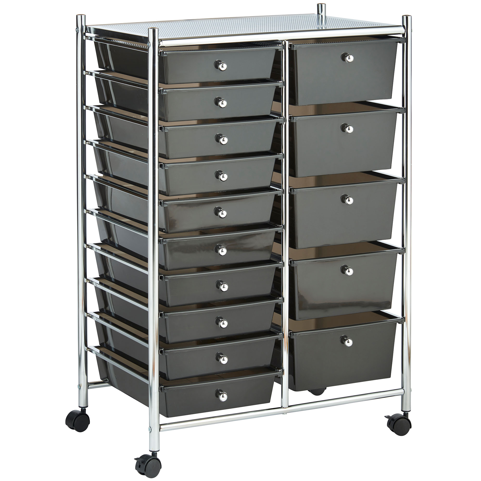 Luxury Sterilite 2Drawer Plastic Black File Cart For Home Or Office Storage