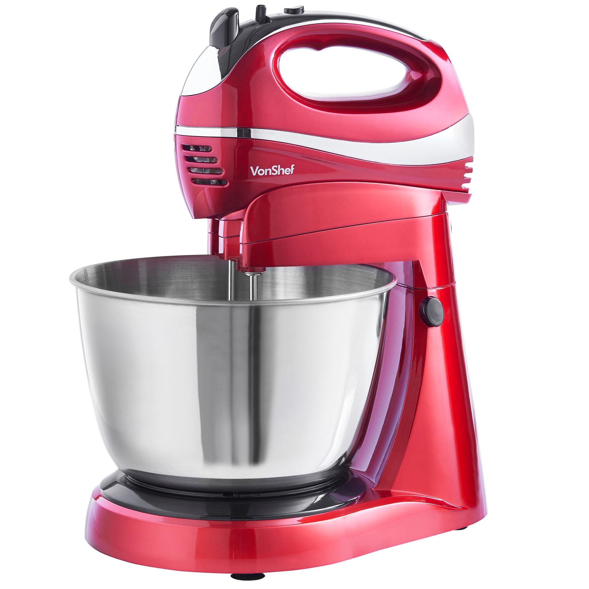 Hand Held Mixer ~ Vonshef stand mixer hand held food blender litre