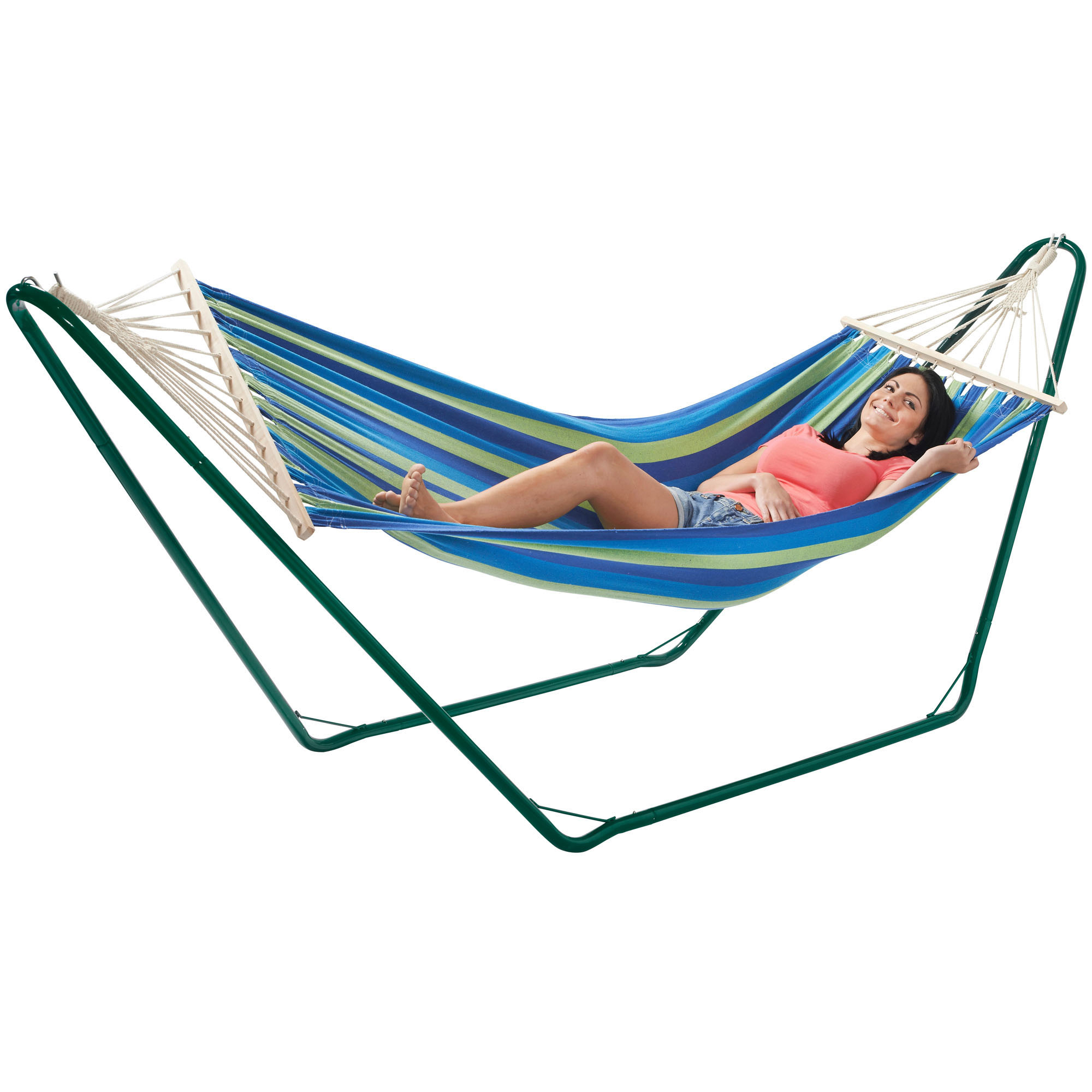 Patio Hammock: VonHaus Luxury Free Standing Swinging Garden Hammock With
