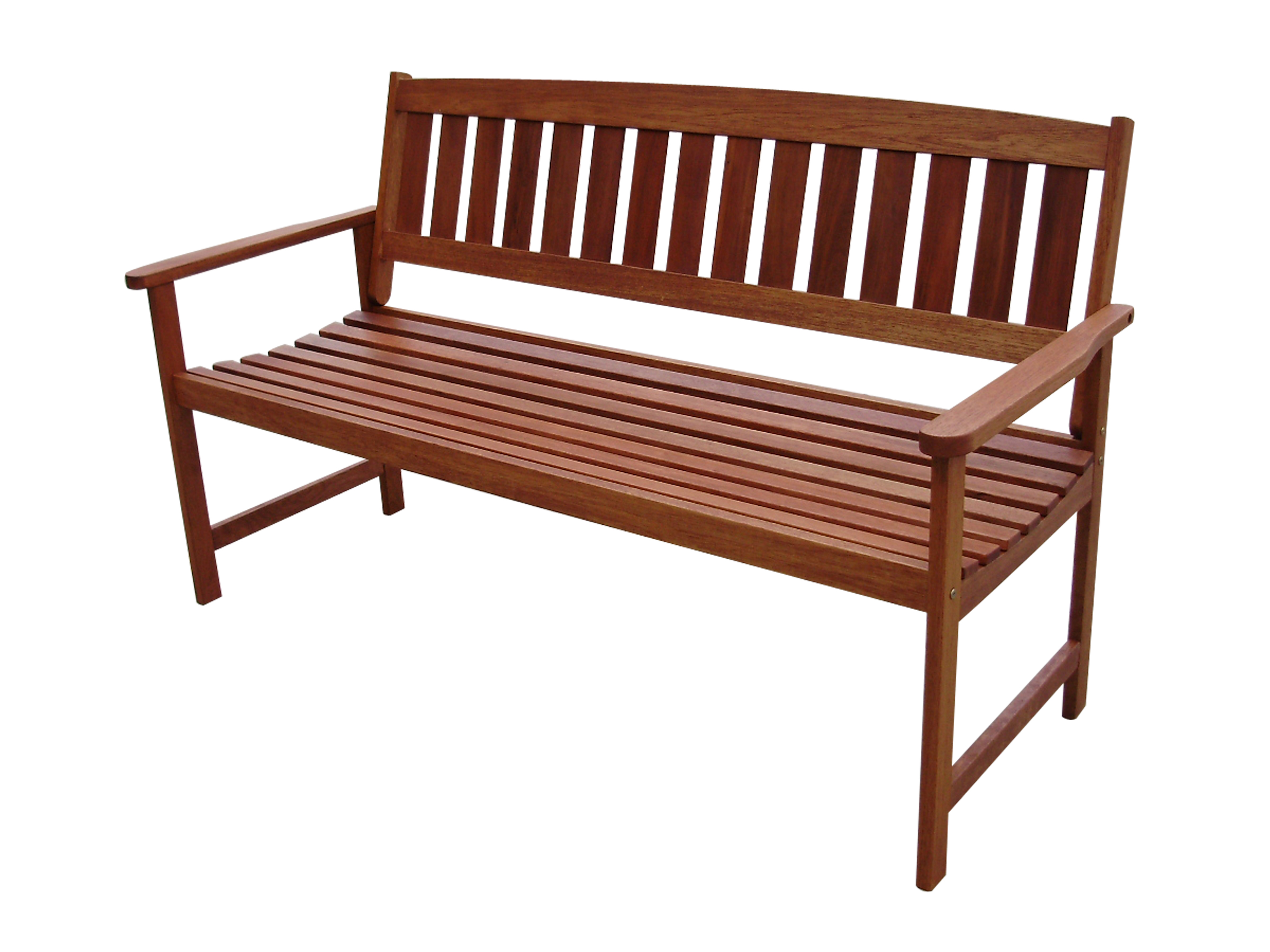 vonhaus 3 seater hardwood wooden garden bench outdoor