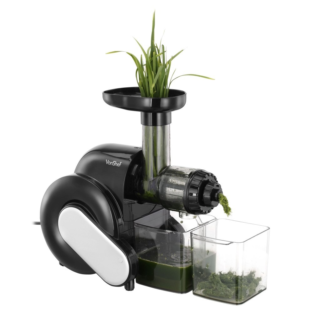 vonShef Wheatgrass Fruit vegetable Juicer Slow Masticating ...