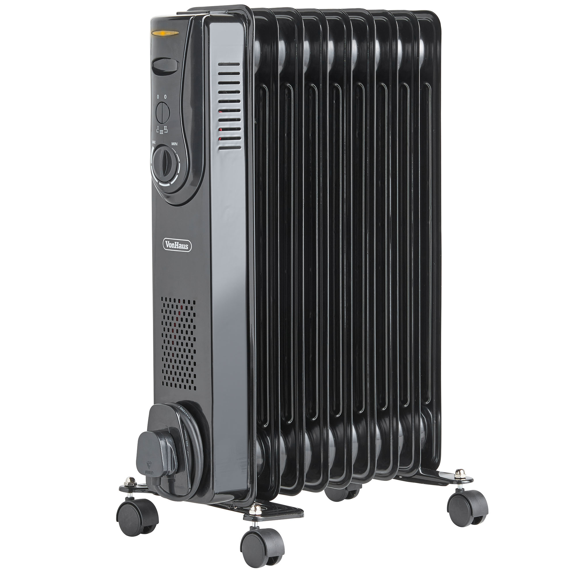 Electric Oil Radiator ~ Vonhaus fin w electric portable oil filled radiator