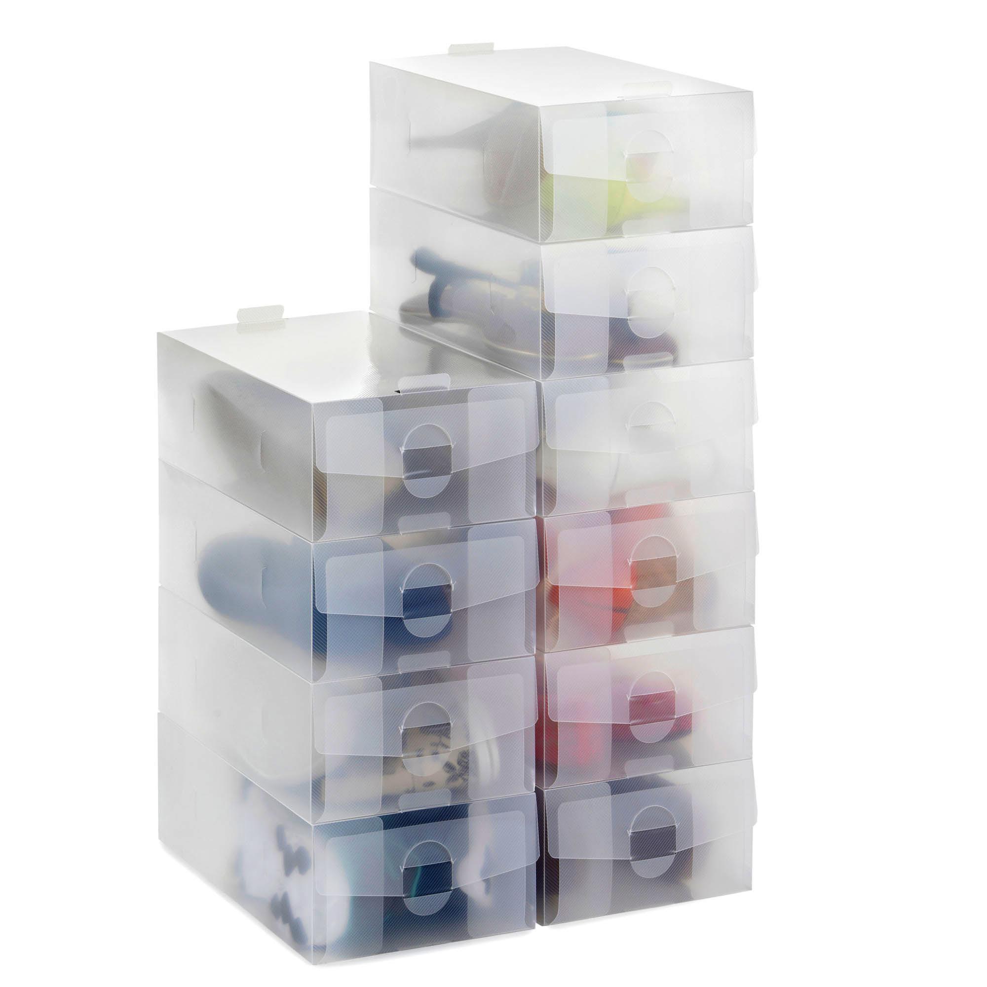 Clear Plastic Shoe Boxes Uk